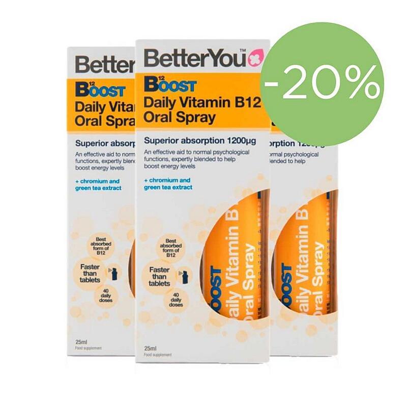 B12 1200µg - Vitamín B12  Rýchly a účinný v spreji, Akcia 3x25 ml